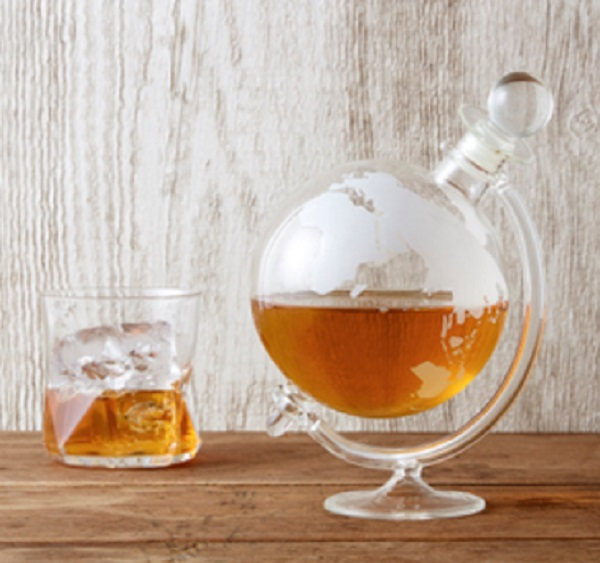Globe Shape Whisky Decanter