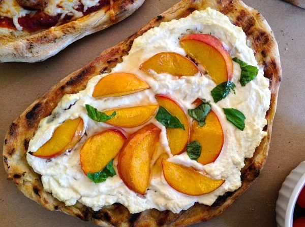 The Mediterranean Peach Pizza