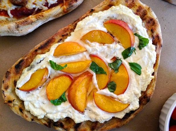 The Mediterranean Peach Pizza