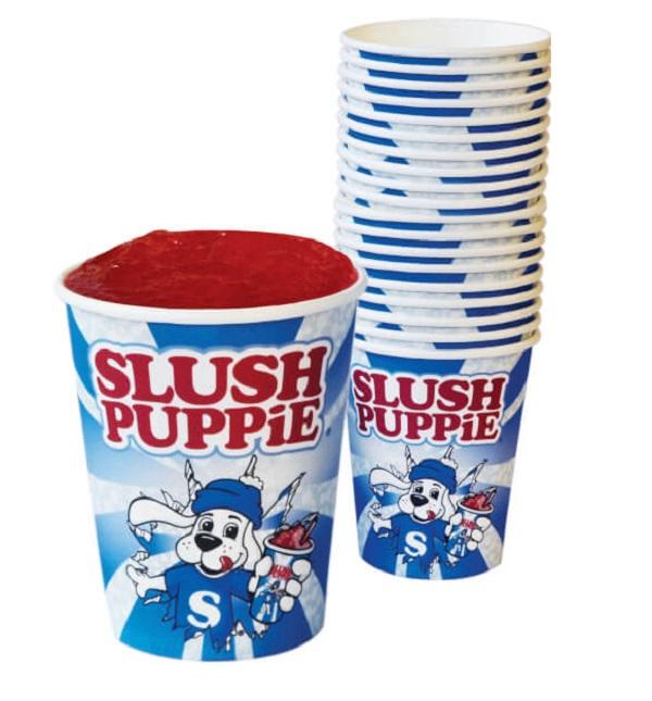 Slush Puppie Paper Cups & Straws