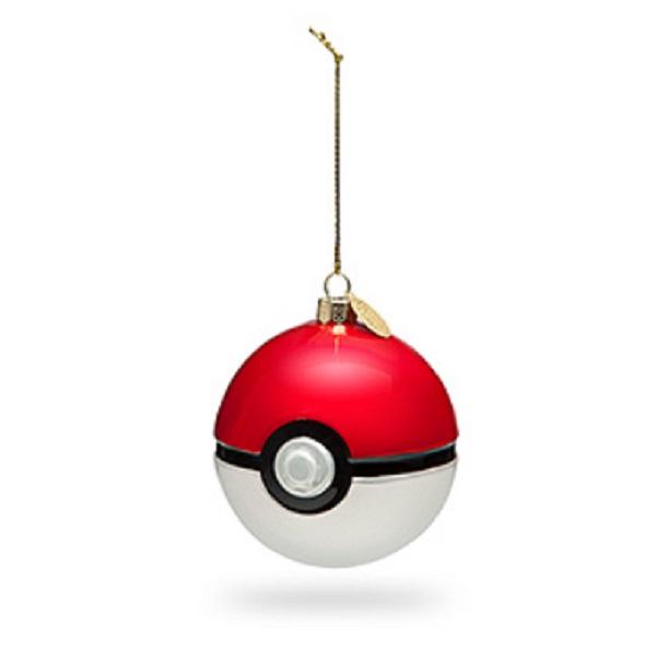 Poké Ball Glass Ornament Set