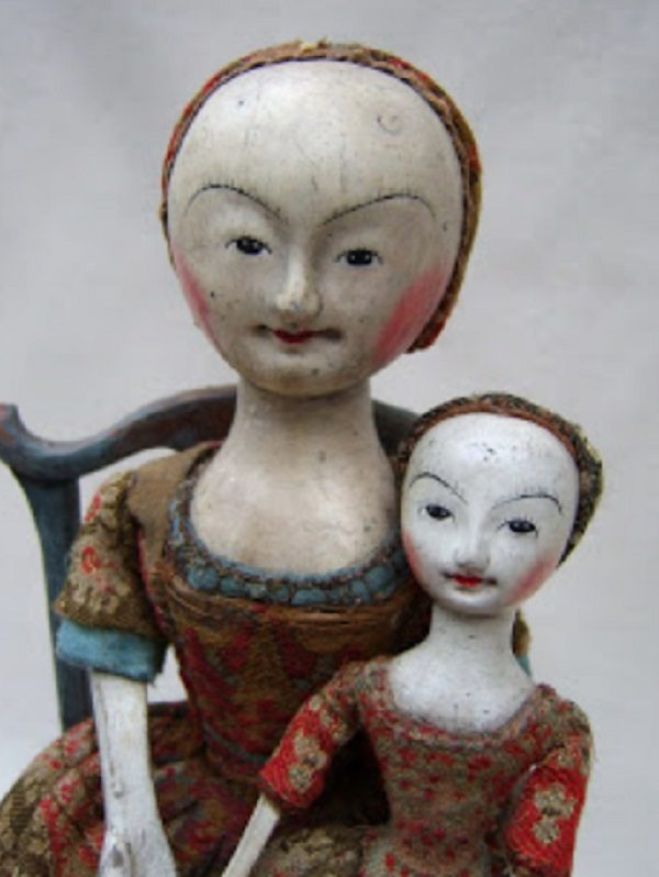 William and Mary wooden doll, English
