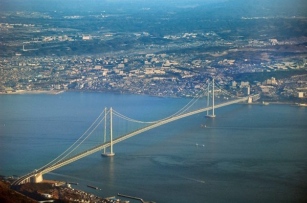 Akashi Kaikyō Bridge in Japan