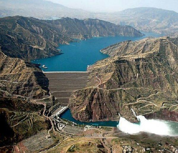 Nurek Dam in Tajikistan