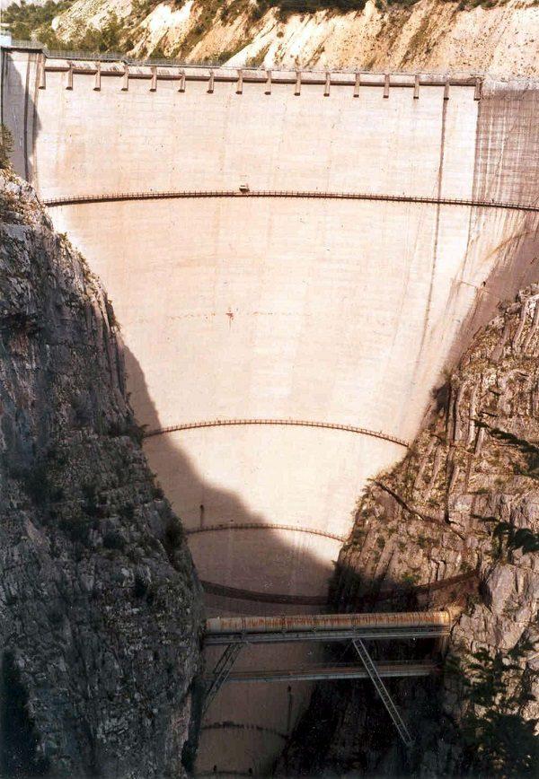 Vajont Dam in Italy