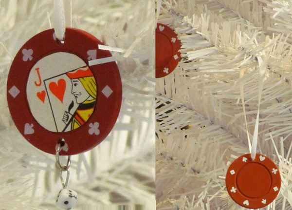 Casino Chips Used to Make Christmas Tree Ornaments