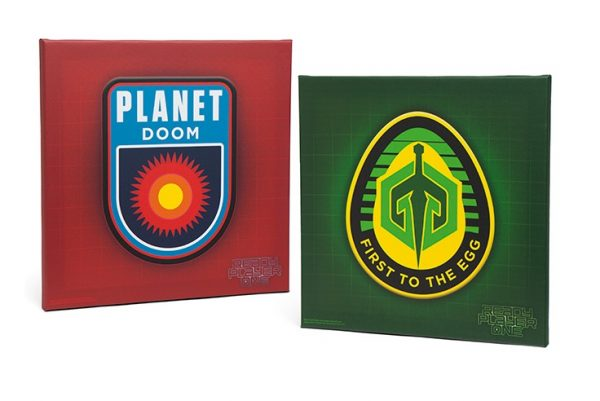 Ready Player One Clothing Egg and Planet Doom Wall Canvas
