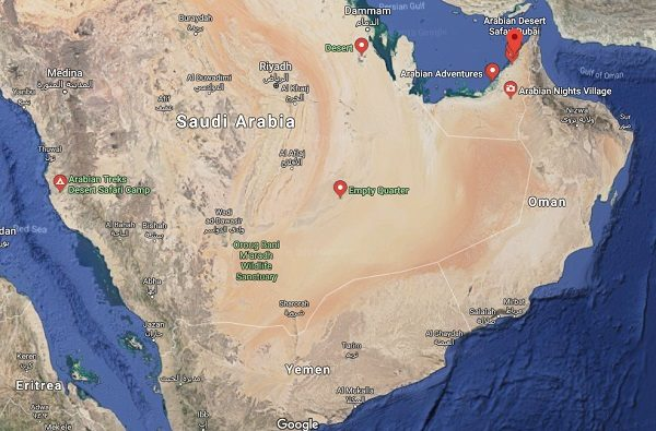 Arabian Desert In Asia