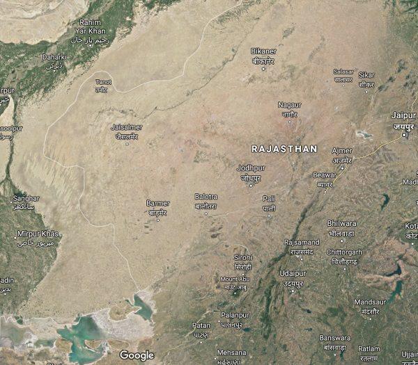 Thar Desert in Asia