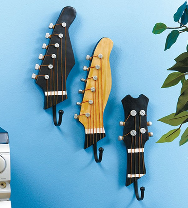 Old Guitar Turned Into a Coat Hanger