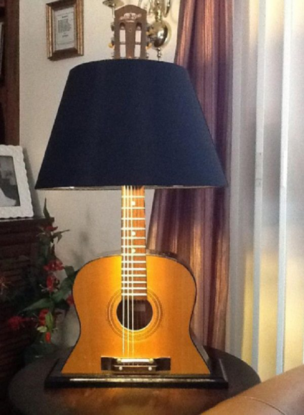 Old Guitar Turned Into a Lamp