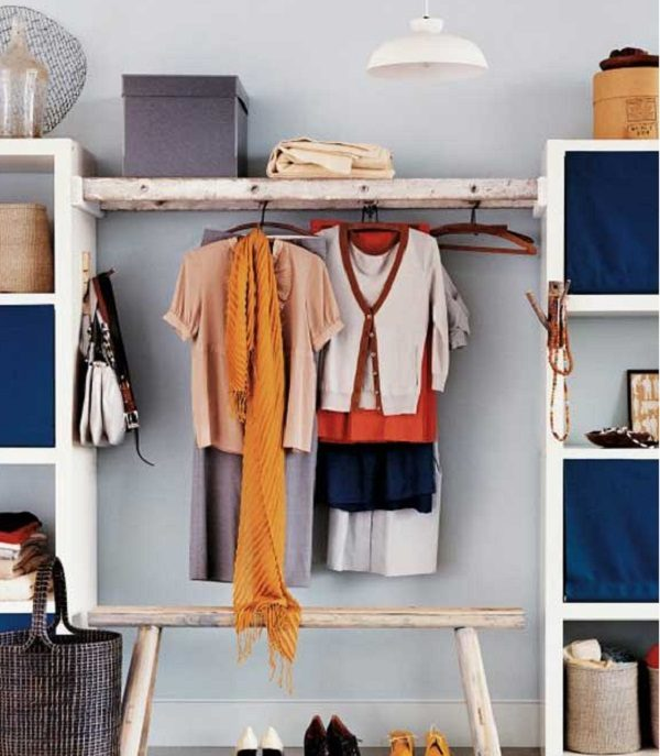 Old Wooden Ladder Used to Make a Clothes Hanger