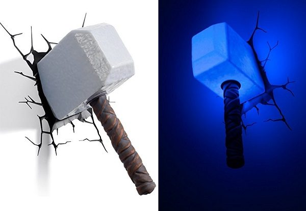 3D Deco Light in the Shape of Thor's Hammer