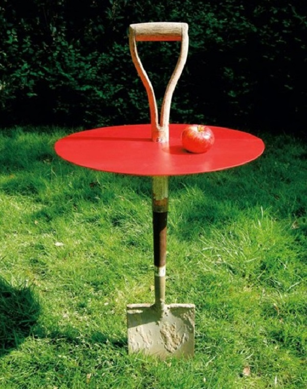 Garden Table Made From a Garden Spade