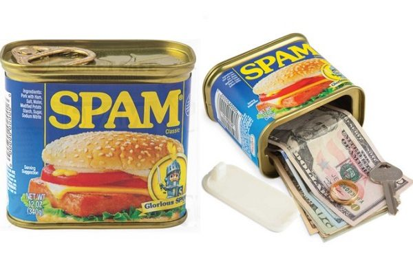 Novelty Spam Canned Meat Decoy Safe Tin