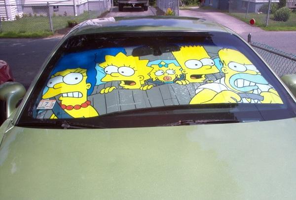The Simpsons Universal Car Sunshade