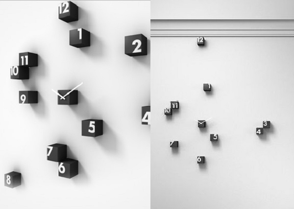 Spaced RND Wall Clock by Progetti