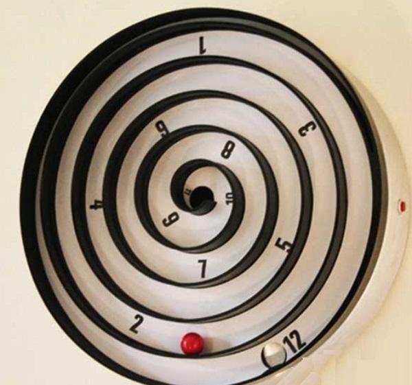 Spinning Ball Maze Wall Clock