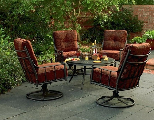 Rubicore Thick Cushioned 5 Piece Patio Set