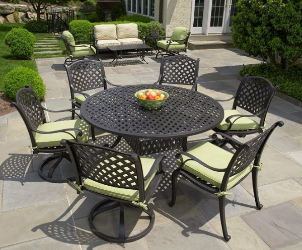 Thegroupeezz 7 Piece Aluminum Patio Set