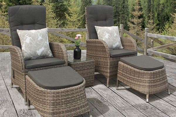 Holywells Bistro Rattan Garden Furniture Set