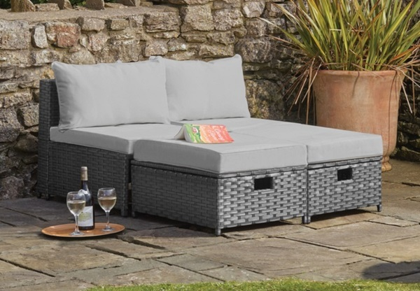 Napoli Lounge Rattan Garden Furniture Set