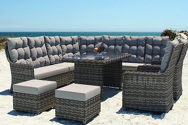 Artelia 8 Seater Rattan Garden Furniture Set