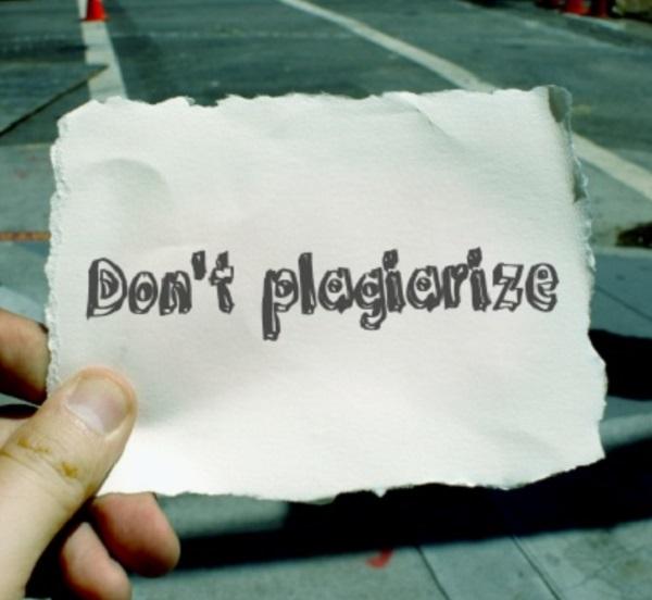 Don't plagiarize