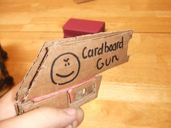 Pizza Box Rubber Band Gun