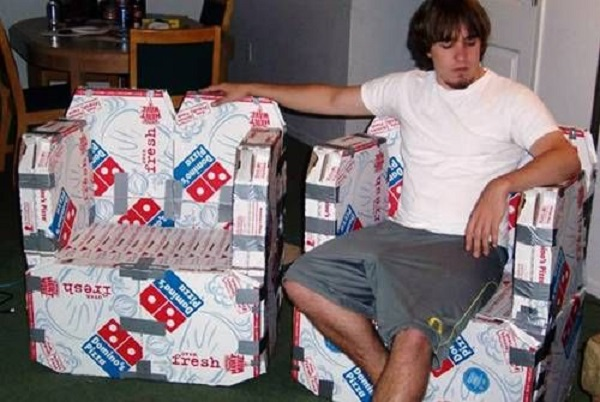 Pizza Box Chairs