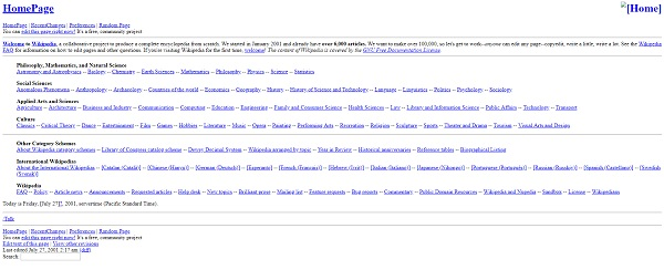 This is what Wikipedia used to look like!