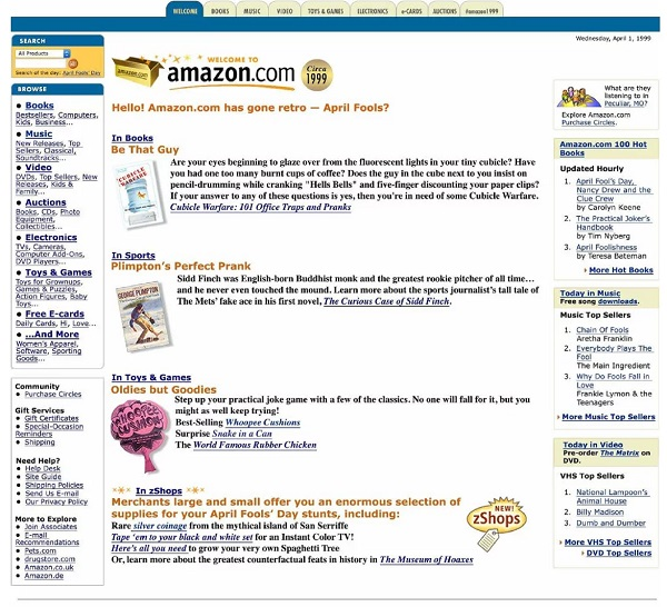 This is what Amazon.com used to look like!