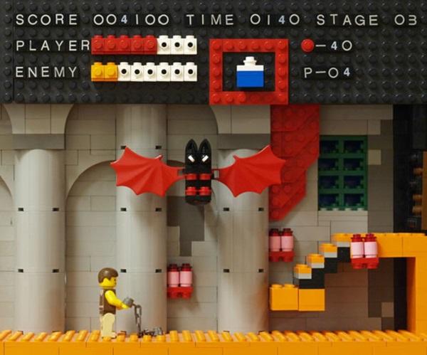 LEGO Castlevania Scene (NES)