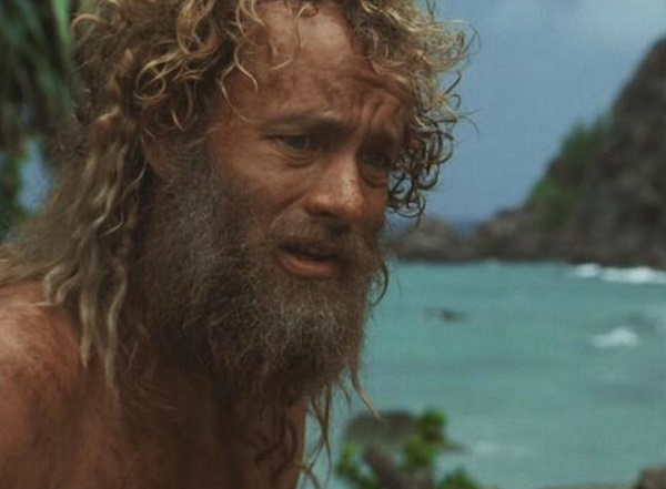 "Tom Hanks in the movie ""Castaway"""