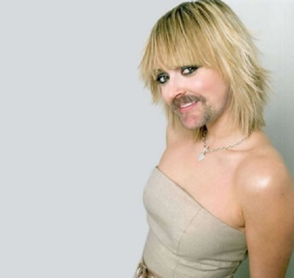 Fearne Cotton with a Beard