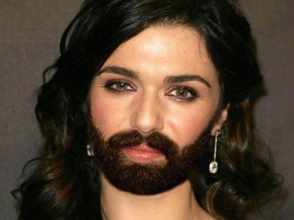 Rachel Weisz with a Beard