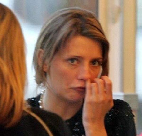 Mischa Barton Picking Her Nose