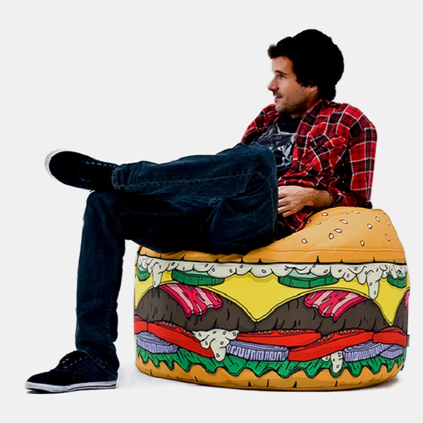 Fast-Food Burger Beanbag Chair