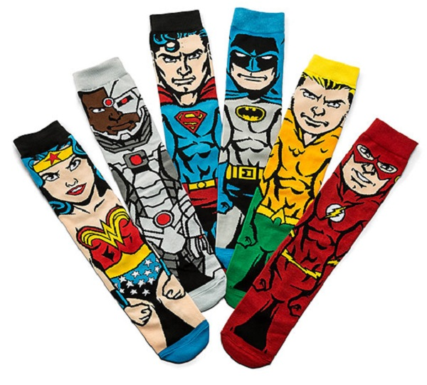 Justice League 6-Pack Sock Gift Sets (Him)