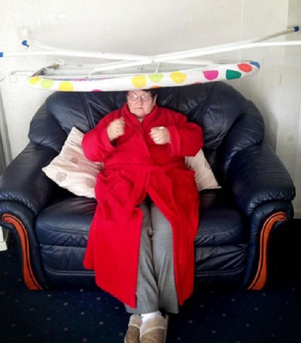 Ironing Board on Nan's Head