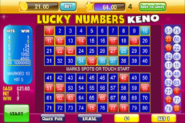 Lucky Keno Numbers for Android