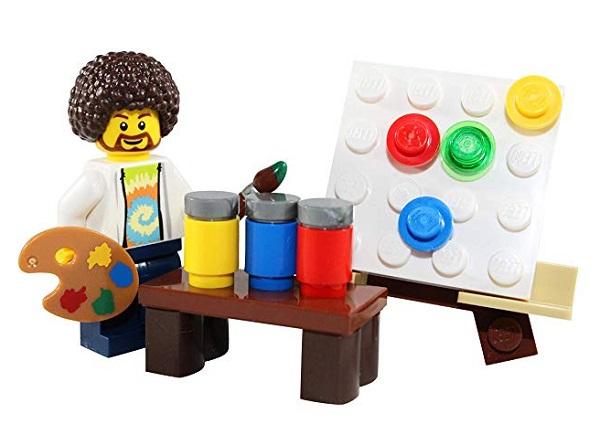 Bob Ross LEGO Mini Figure