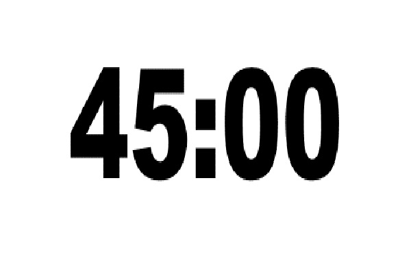 45 Minutes Will Fly By