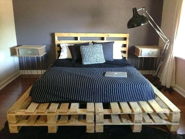 A Bed Made From Wooden Pallets