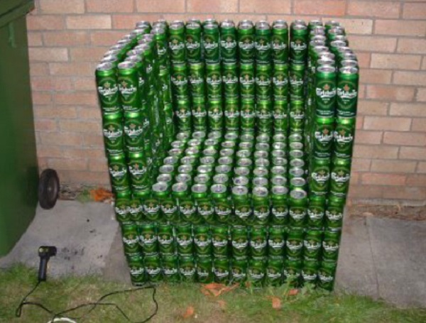 An Armchair Made From Recycled Beer Cans