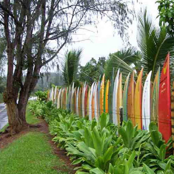 A Fence Made From Surf Boards