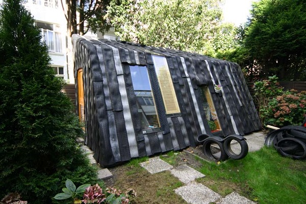 A Garden Shed Made From Rubber Tyres