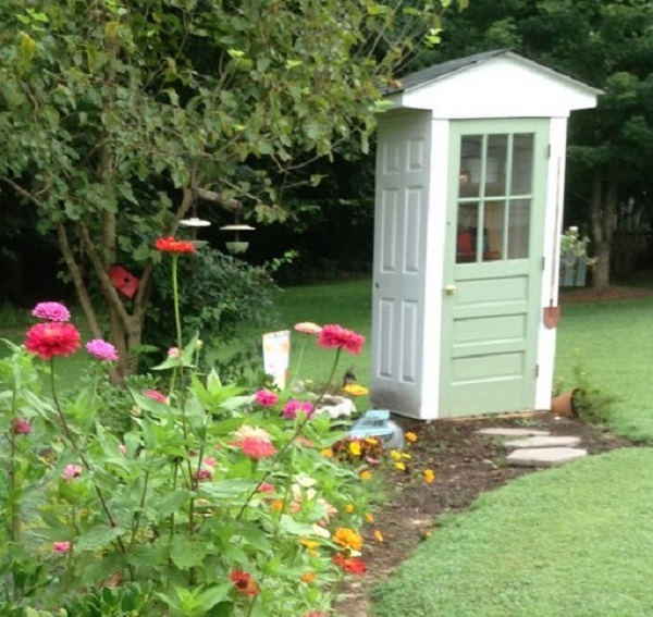 A Garden Shed Made From Doors