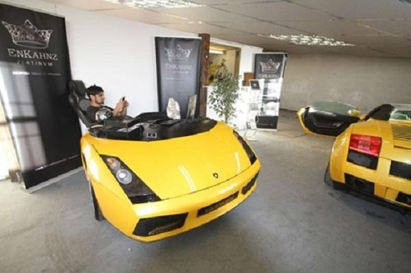 An Office Desk Made From A Ferrari