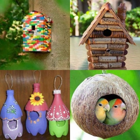 Ten Amazing Birdhouses Made From Recycled Things